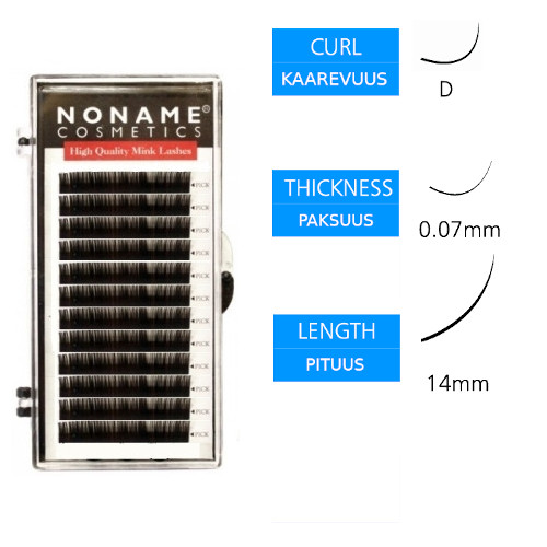 Noname Cosmetics Volyymiripset D 0.07 / 14mm