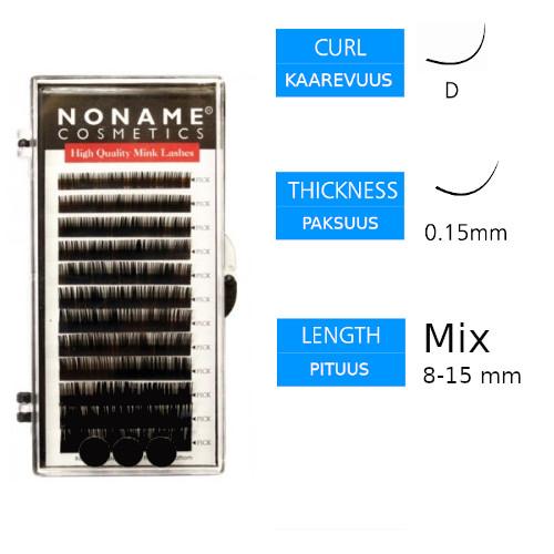 Noname Cosmetics Pidennysripset D 0.15 / 8-15mm