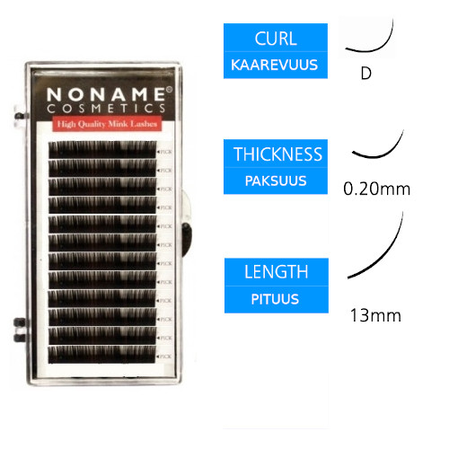 Noname Cosmetics Pidennysripset D 0.20 / 13mm