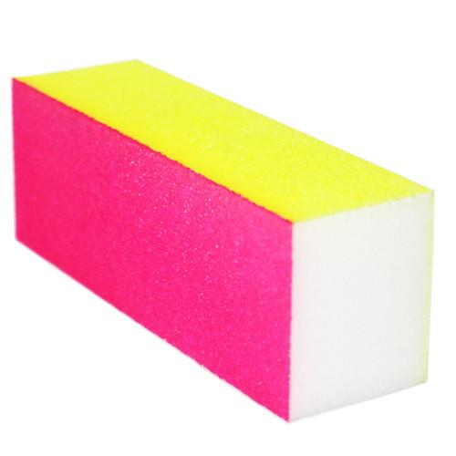 Noname Cosmetics 100/180 Neon keltainen-pinkki hiontapalkki
