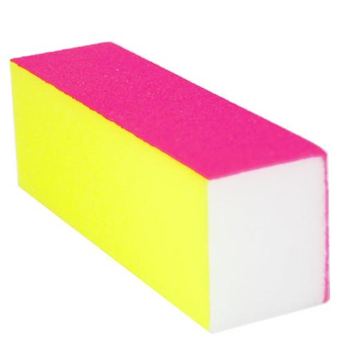 Noname Cosmetics 100/180 Neon pinkki-keltainen hiontapalkki