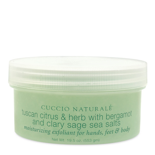 Cuccio Naturalé Sea Salts Tuscan Citrus & Herb karkea merisuolakuorinta  553 g