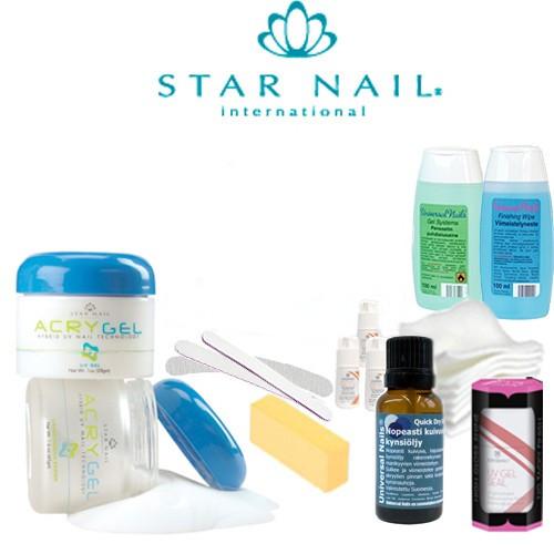 Star Nail Acrygel Mini Paketti ilman uunia