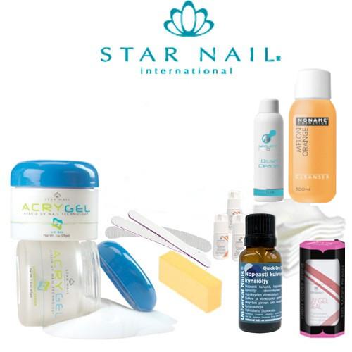 Star Nail Acrygel Mini Aloituspaketti ilman uunia
