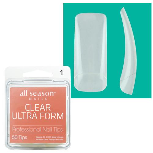 Star Nail Clear Ultra Form Tipit täyttöpakkaus koko 1 50 kpl