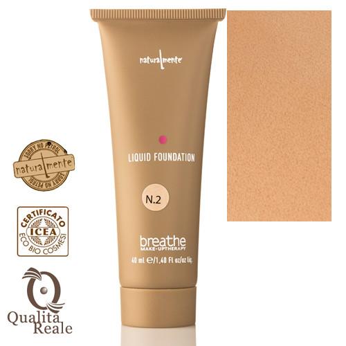 Naturalmente Breathe Liquid Foundation Meikkivoide Sävy 2 Vanilla 40 mL