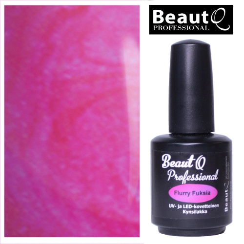 BeautQ Professional Flurry Fuksia geelilakka 12 mL