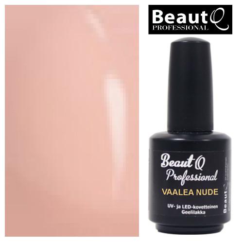 BeautQ Professional Vaalea Nude geelilakka 12 mL