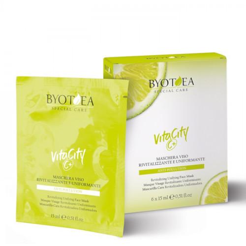 Byotea VitaCity C+ Revitalizing & Unifying Face Sheet Mask kasvonaamio 6 x 15 mL
