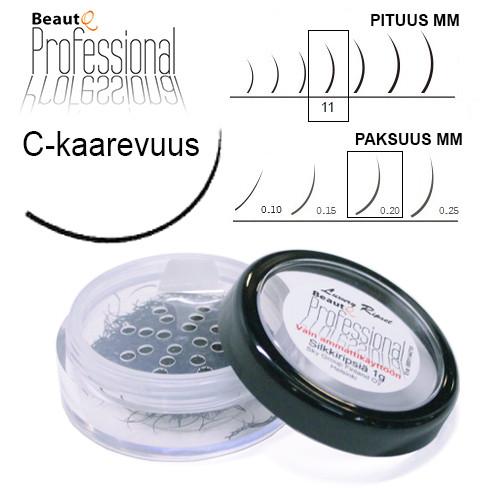 BeautQ Professional C-Pidennysripset 11 / 0.20 1 g