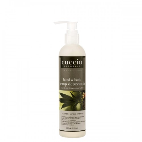 Cuccio Naturalé Hand & Body Detoxwash Hemp & Magnesium Sulphate käsi- ja vartalosaippua 237 mL