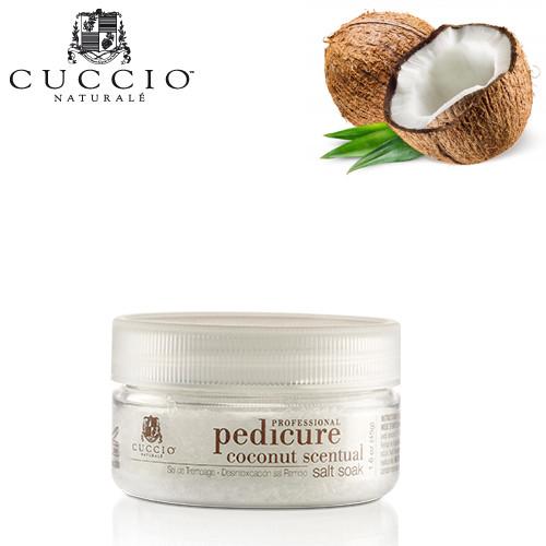 Cuccio Naturalé Coconut & White Ginger Scentual Salt Soak jalkakylpysuola 45 g