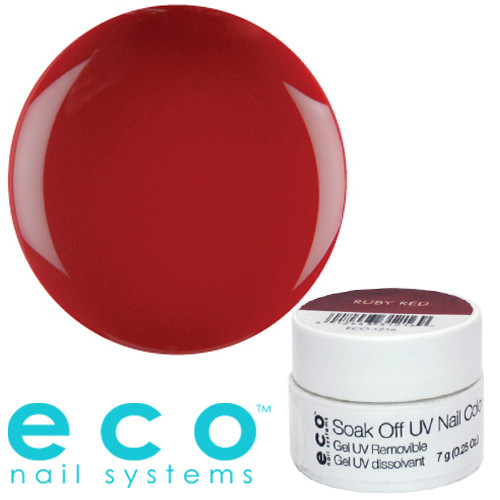Eco Nail Systems Ruby Red Eco Soak Off geelilakka 7 g
