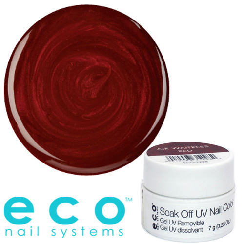 Eco Nail Systems Air Waitress Red Eco Soak Off geelilakka 7 g