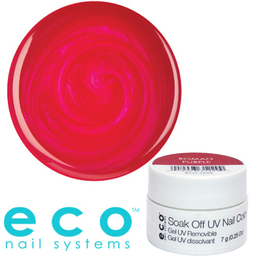Eco Nail Systems Roman Purple Eco Soak Off geelilakka 7 g