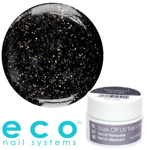 Eco Nail Systems Midnight Glitter Eco Soak Off geelilakka 7 g