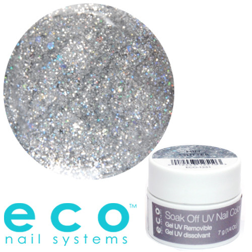 Eco Nail Systems HiFi Glitter Eco Soak Off geelilakka 7 g