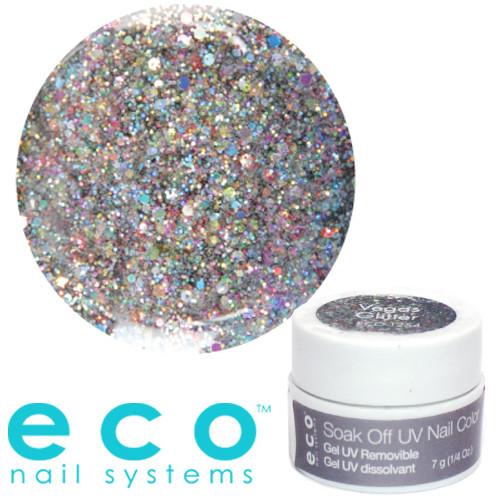 Eco Nail Systems Vegas Glitter Eco Soak Off geelilakka 7 g