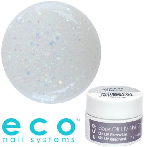Eco Nail Systems Surprise Glitter Eco Soak Off geelilakka 7 g