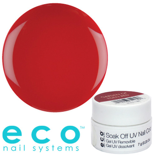 Eco Nail Systems Garden of Eden Red Eco Soak Off geelilakka 7 g