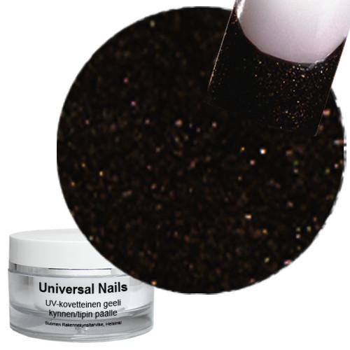 Universal Nails Maaginen Musta/Ruskea UV glittergeeli 10 g