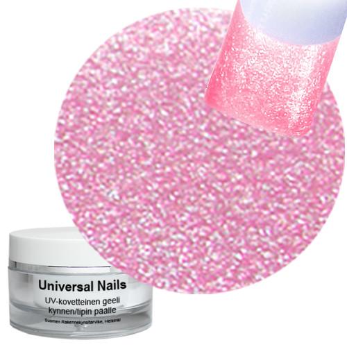 Universal Nails Roosa Helmiäinen UV glittergeeli 10 g