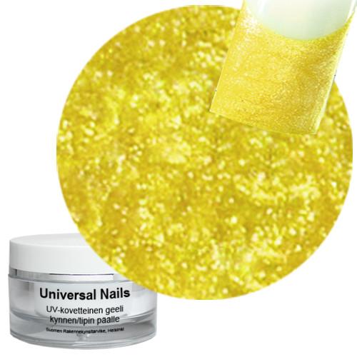 Universal Nails Hieno Keltainen UV glittergeeli 10 g