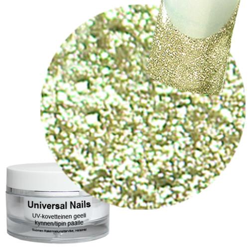 Universal Nails Hieno Prosecco UV glittergeeli 10 g