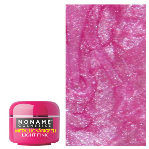 Noname Cosmetics Light Pink Metallic UV geeli 5 g