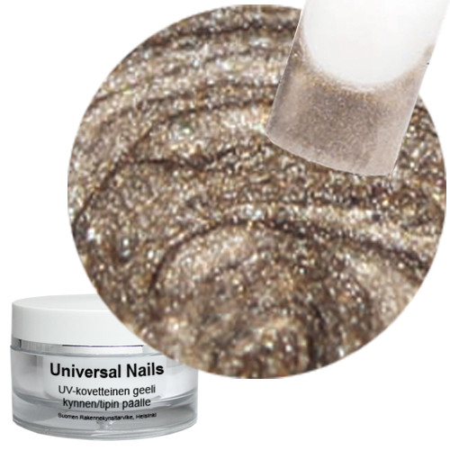 Universal Nails Jäinen Platina UV metalligeeli 10 g