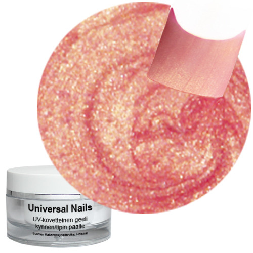 Universal Nails Kulta Roosa UV metalligeeli 10 g