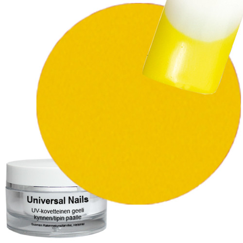 Universal Nails Keltainen UV metalligeeli 10 g