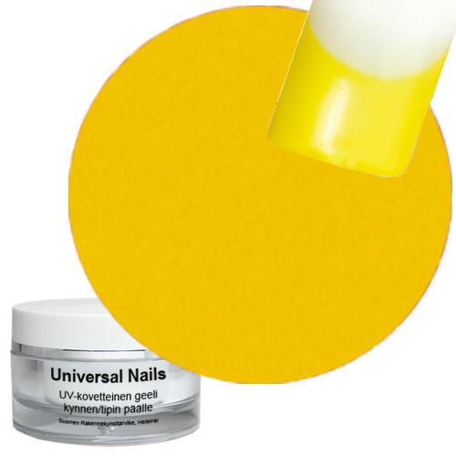 Universal Nails Keltainen UV metalligeeli 10 g