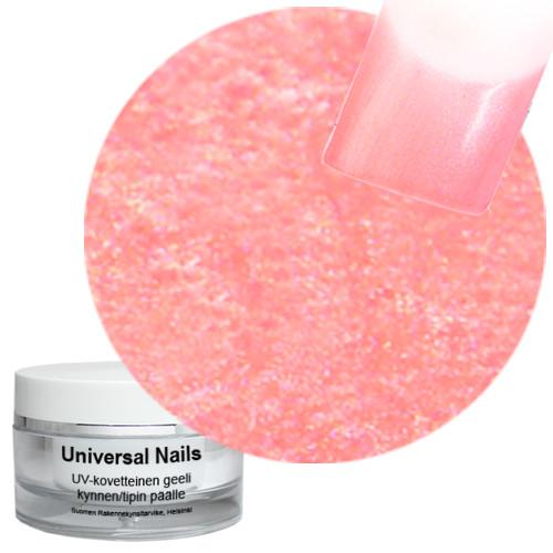 Universal Nails Persikka Karkki UV metalligeeli 10 g