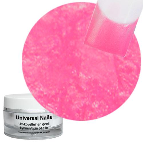 Universal Nails Pinkkikarkki UV metalligeeli 10 g