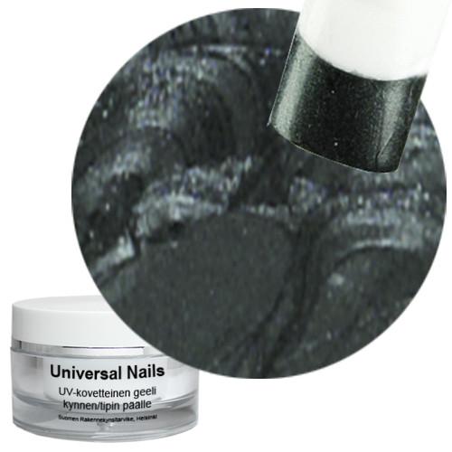 Universal Nails Musta Antrasiitti UV metalligeeli 10 g