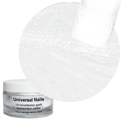 Universal Nails Valkoinen UV metalligeeli 10 g