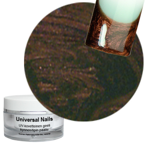 Universal Nails Suklaa UV metalligeeli 10 g