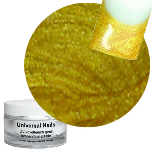 Universal Nails Kulta UV/LED metalligeeli 10 g