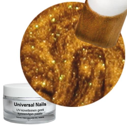 Universal Nails Jäinen Pronssi UV metalligeeli 10 g