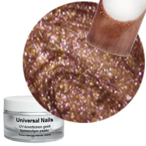 Universal Nails Jäinen Mahonki UV metalligeeli 10 g