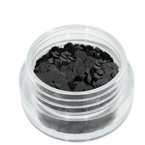 Noname Cosmetics Heksagoni paljetit musta 1.5 g