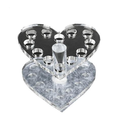Noname Cosmetics Sydämenmuotoinen Pensseliteline hopea