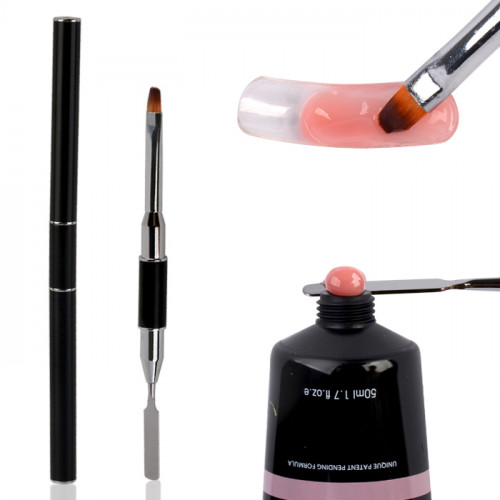 Noname Cosmetics Powder Polygel 2-päinen #8 pensseli/työkalu
