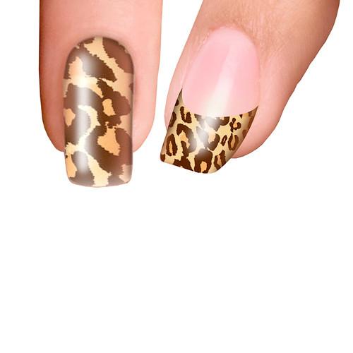 Trendy Nail Wraps Cheetalicious Brown Kynsikalvo koko kynsi