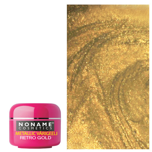 Noname Cosmetics Retro Gold Metallic UV geeli 5 g