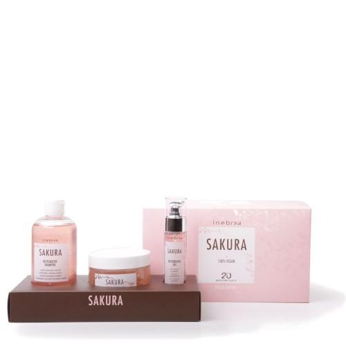 Inebrya Sakura Restorative Kit hoitopakkaus 300 + 250 + 50 mL