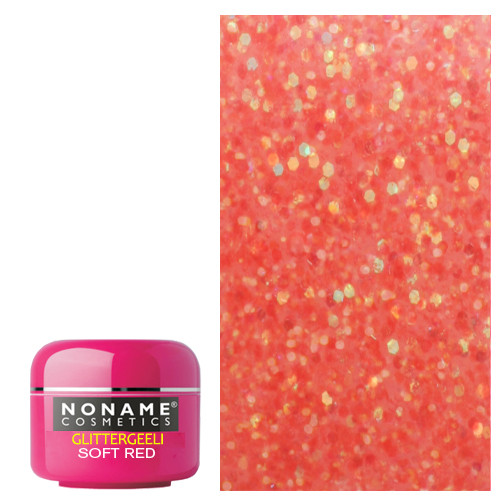 Noname Cosmetics Soft Red Glitter UV geeli 5 g