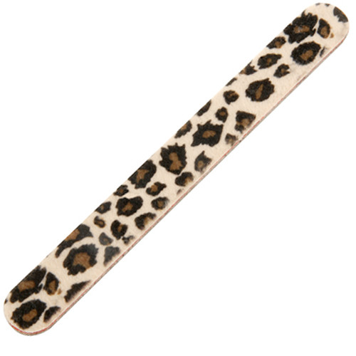 Universal Nails Duster File Leopard suora kynsiviila