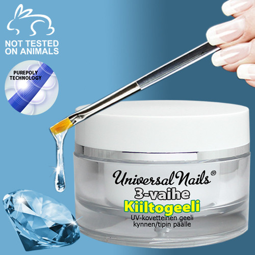 Universal Nails 3-Vaihe UV/LED kiiltogeeli 30 g